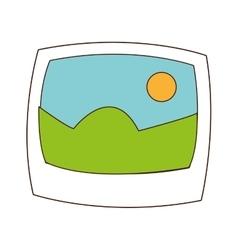 landscape photograph icon vector image