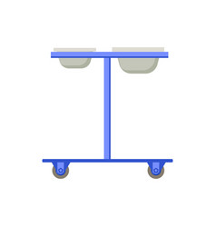 Medical wheel stand composition vector