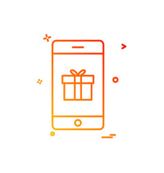 mobile gift box icon design vector image