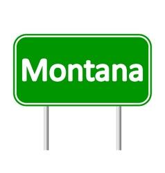 Montana green road sign vector