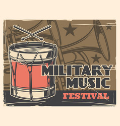 Music festival military band army parade poster vector