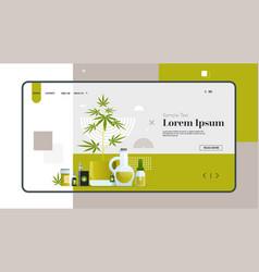 online marijuana store different equipment and vector image