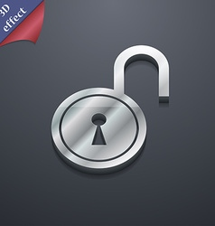 open lock icon symbol 3D style Trendy modern vector image