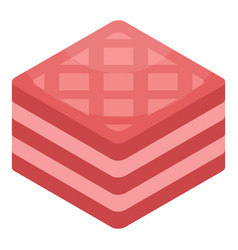 pink sandwich biscuit icon isometric style vector image