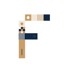 pixel art letter f colorful letter consist of vector image