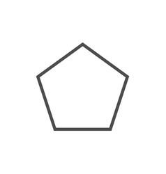 Polygon pentagon shape icon vector