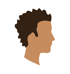 Profile head afro guy avatar vector