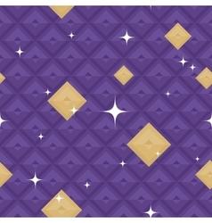 Purple geometric pattern with stars vector