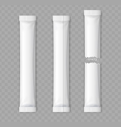 Realistic detailed 3d matte sachet stick set vector