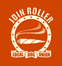 roller vector image