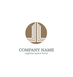 round business company logo vector image