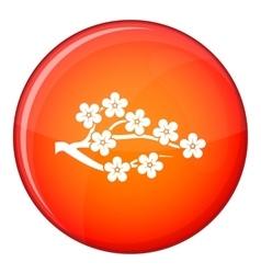 Sakura icon flat style vector image