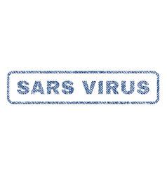 Sars virus textile stamp vector
