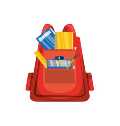 school backpack isolated vector image