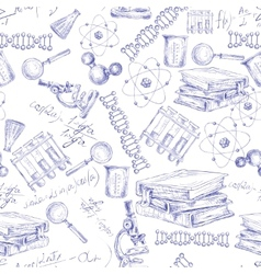 Science sketch seamless pattern vector