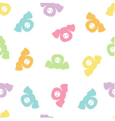 seamless pattern with color pigs vector image