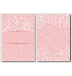Set of tracery pink template for creating vector