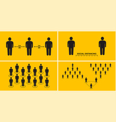 Social distance people to protect against spread vector