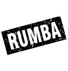 Square grunge black rumba stamp vector