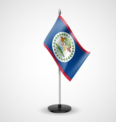 Table flag of Belize vector image