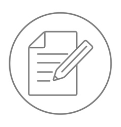 Taking note line icon vector image