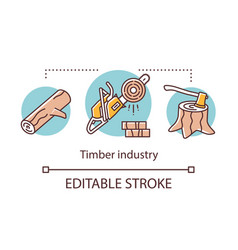 timber industry concept icon logging forestry vector image