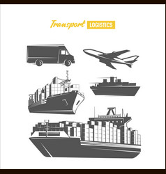 Transport logistics design template image vector