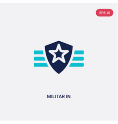 Two color militar in icon from army and war vector