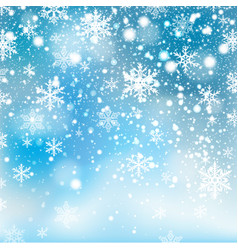 Winter falling snow background vector