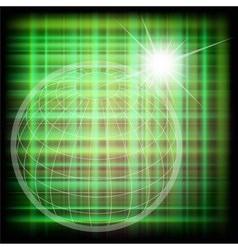 World grid globe background vector