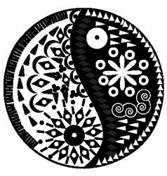 Yin yang symbol asian decoration element vector image