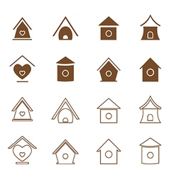 Bird houses vector image