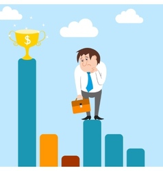Businessman character has difficulties with career vector