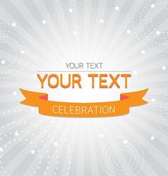 Orange vintage celebration card vector image
