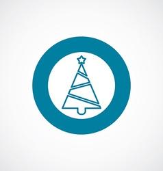 Christmas tree icon bold blue circle border vector image vector image