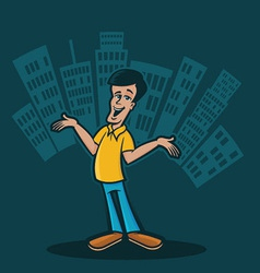 City Man vector image