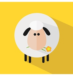 Cute Sheep Background vector image vector image