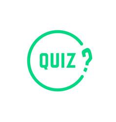 green round simple quiz icon vector image vector image