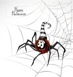 Halloween Spider Card vector image vector image