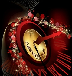 Merry Christmas and happy New Year background gold vector image vector image