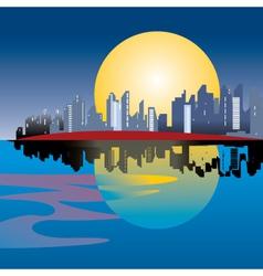 urban city illustration vector image vector image
