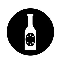 champagne bottle drink icon vector image