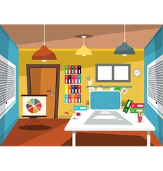 Empty Office Room Studying Room Cartoon vector image