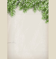 fir tree on plaster wall background vector image vector image
