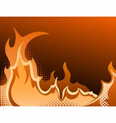 fire halftone background vector image