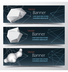 Geometrical banner set abstract background vector image vector image