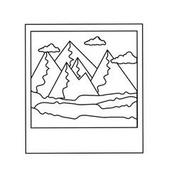 isolated mountains photography vector image