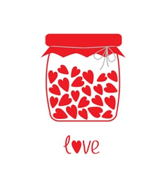 Love bottle with hearts inside Card vector image