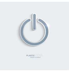 Plastic icon Power symbol vector image