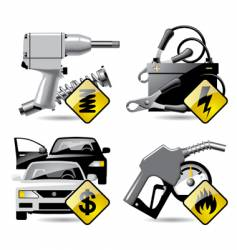 automobile service icons vector image vector image